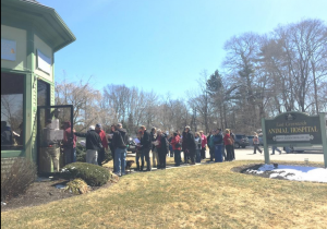 The line outside East Greenwich Animal Hospital, March 29, 2015